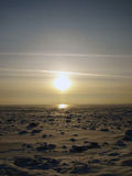 солнце снежка озера Стоковая Фотография RF