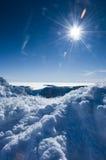 солнце снежка Стоковые Изображения RF