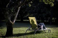 солнце сумрака отдыхая к Стоковые Изображения RF