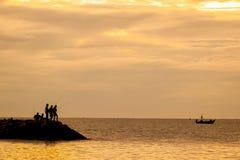 солнце тени утра s рыболова Стоковое Фото