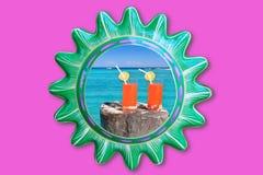 солнце тропические 2 рамки коктеила пляжа мексиканское Стоковое фото RF
