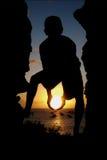 солнце удерживания Стоковое фото RF