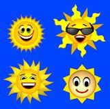 солнце усмешки Стоковое Изображение