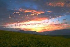 солнце установленное облаками Стоковое Изображение