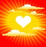 солнце формы сердца Стоковые Фото