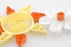 солнце цветка бумажное Стоковые Фотографии RF