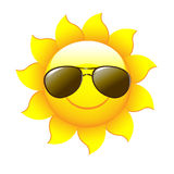 солнце шаржа иллюстрация штока