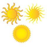 солнце шаржа Стоковые Изображения
