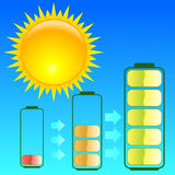 солнце энергии стоковое изображение rf