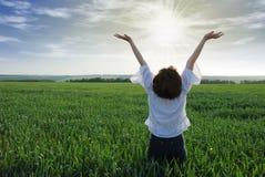 солнце девушки светлое Стоковая Фотография