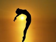 солнце 2 танцек Стоковые Изображения