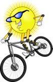 солнце mtn bike Стоковое Изображение RF