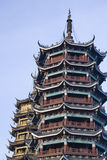 солнце pagodas луны guilin фарфора Стоковая Фотография
