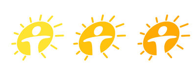 солнце pictogram Стоковое фото RF