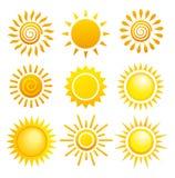 солнце s установленное Стоковая Фотография