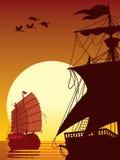 солнце sailing к Стоковое Изображение RF
