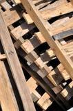 солнце shine паллета под деревянным стоковое фото