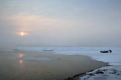 солнце songhua стороны реки подъема Стоковые Фотографии RF