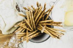 Соломы хлеба на муке и тесте стоковая фотография