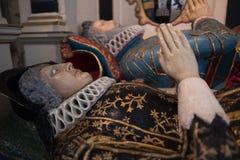СОЛСБЕРИ, WILTSHIRE/UK - 21-ОЕ МАРТА: Покрашенная усыпальница господина Ричарда стоковые изображения rf