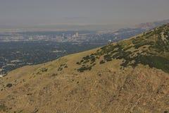 Солт-Лейк-Сити встречает природу стоковое фото
