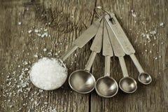 Соль в измеряя ложке Стоковые Фотографии RF