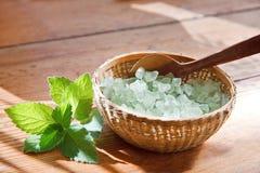 соль для принятия ванны Стоковое фото RF