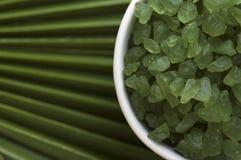соль ладони листьев ванны Стоковая Фотография