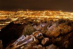 соль ночи озера города Стоковое фото RF