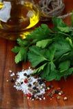 соль перца петрушки масла прованское Стоковые Изображения