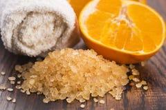 соль померанца ванны Стоковое Фото