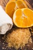 соль померанца ванны Стоковые Фотографии RF