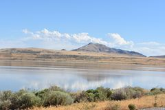соль Юта большого озера Стоковая Фотография