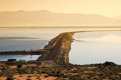 соль Юта большого озера стоковая фотография rf