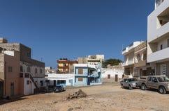 Соль Rei городской площади и жилых домов стоковая фотография rf