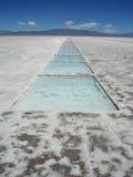 соль salinas grandes извлечения Аргентины Стоковое Фото