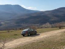 Солярис Hyundai автомобиля припаркован в природе Акцент Giad/Hyundai Avega/Brio Hyundai/додж Verna стоковые фото