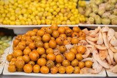 Солёное кислое прованское ресервирование плодоовощ соленья для закуски стоковое изображение rf