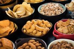 Солёные закуски, который служат в шарах Стоковые Фото