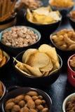 Солёные закуски, который служат в шарах Стоковое Фото