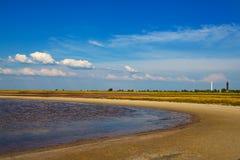 Солёные озера Украина Dzharylgach стоковые фотографии rf