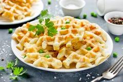 Солёные waffles для закуски стоковые фотографии rf