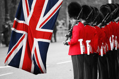 Солдат ферзя на собираться толпой цвет, 2012 Стоковые Фотографии RF