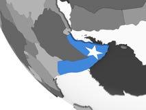 Сомали с флагом на глобусе бесплатная иллюстрация