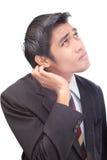 сомневаться бизнесмена невежественный Стоковые Изображения RF