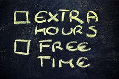 Сомнения: выбор между работой и свободным временем Стоковые Фото