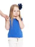 Сомнения маленькой девочки стоковая фотография rf