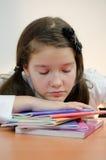 Сонная девушка стоковое изображение rf