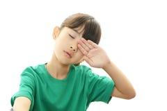 Сонная девушка стоковая фотография