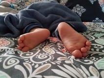 сонные пальцы ноги стоковые фото